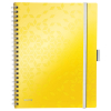 Leitz 4644 WOW be mobile book cahier jaune A4 ligné 80 grammes 80 feuilles 46440016 226140