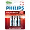 Philips Power Alcaline LR03 Micro piles AAA 4 pièces